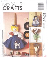"""8707 UNCUT SEWING McCalls Craft Pattern 32"""" 36"""" Broom Dolls + clothes OO... - $5.05"""