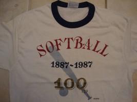 Vintage Softball 100 Years Celebration Sportswear Fan Apparel T Shirt Size L - £12.95 GBP