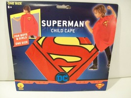 NEW RUBIES DC SUPERMAN CHILD CAPE DRESS UP SUPER HERO #36626, UNISEX SUP... - $9.75