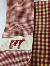 2 Dunroven Homespun Kitchen Towels Hand Towel Dish Cow 25650 - $29.69