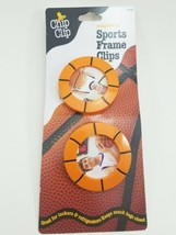Magnetic Sports Frame Clips. Basketballs. Great way to seal Snacks or pa... - $7.02