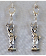 USA Statue of Liberty Handmade Lady Liberty Convertible Earrings Zipper ... - $9.99