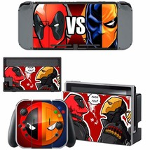 Nintendo Switch Console Joy-Con Skin Deadpool vs Deathstroke Vinyl Decal Sticker - $9.21