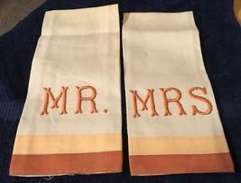 Vtg Linen Mr./ Mrs. Hand Towels - $7.69
