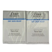 2x Dove DermaSeries Dry Skin Relief Gentle Cleansing Face Bar Soap 2 Pk 4 Bars - $15.99