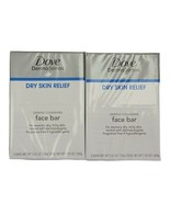 2x Dove DermaSeries Dry Skin Relief Gentle Cleansing Face Bar Soap 2 Pk ... - $15.99