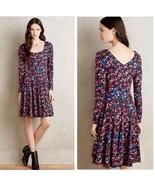 Anthropologie HDnParis Saraid Womens Multi Color Floral Long Sleeve Dres... - $57.75