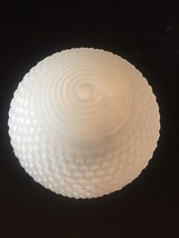 Vintage Art Deco frosted glass hobnail ceiling bulb fixture cover image 2