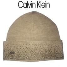 e9168d9e908 Calvin Klein Ombre Crystal Stud Beanie Winter Hat Fold Over Rhinestone NWT  -  31.68
