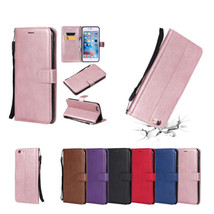 PU Leather Hand Rope Slot Wallet Stand Case Cover for iPhone 5 S SE 6 7 ... - $8.99