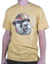LRG Hombre Guerrero Amarillo Pandemic Panda Ejército Militar Camiseta Nwt