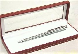 Auth CARTIER C Du Decor Palladium Finish Twist Ballpoint Pen ST150185 w Case - $250.00