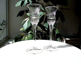Set of 2 Mikasa Icicles Pattern Single Light Candle Holders - $27.71