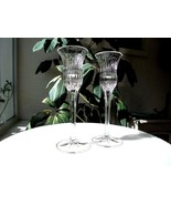 Set of 2 Mikasa Icicles Pattern Single Light Candle Holders - $11.88