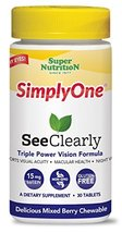 SuperNutrition, SimplyOne See Clearly, One/Day Tablet, Wild Berry, 30 Day Supply - $15.05