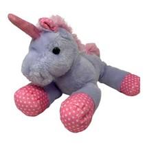 Hug Luv Plush Unicorn Violet Pink Polka Dot Soft Stuffed Animal Floppy 1... - $8.99