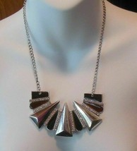 Signed Passion Silver-tone Brown Enamel Collar Necklace - $22.99