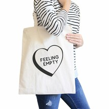 Feeling Empty Canvas Eco Bag Unique Graphic Cute School Bag - $14.39