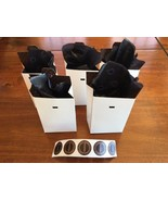 "5 Pandora Charm Boxes Pop Up Pan Iconic Crown ""O"" Tissue Paper & Pandora Sticker - $11.87"