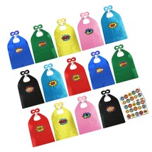 ADJOY Child Super Hero Capes and Masks Bulk Pack with Stickers for Super... - $44.08