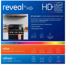 3 Pack GE Reveal HD+ Light 40-Watt G25 Clear Globe Light Bulbs w Medium Base image 3