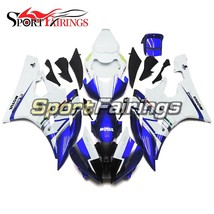 ABS Injection Body Frames For R6 2006 2007 06 07 Yamaha White Blue Fairings - $314.73