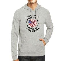 Home Of The Pizza Unisex Gray Funny Independence Day Hoodie Gifts - $25.99+