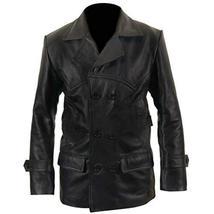Christopher Eccleston Ninth Doctor Who Black Leather Jacket Biker Coat image 1