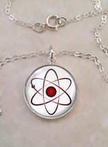 Atom Atomic Model Physics Science Nerd Math .925 Sterling Silver Necklace - $30.50+