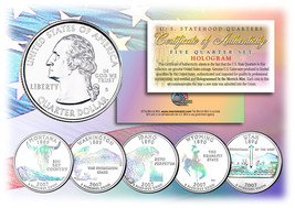 2007 US Statehood Quarters HOLOGRAM *** 5-Coin Complete Set *** w/Capsul... - $12.82