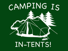 FUNNY TSHIRT Camping Is In Tents T-Shirt Hiking Camp Counselour Backpacking Outd - $11.99