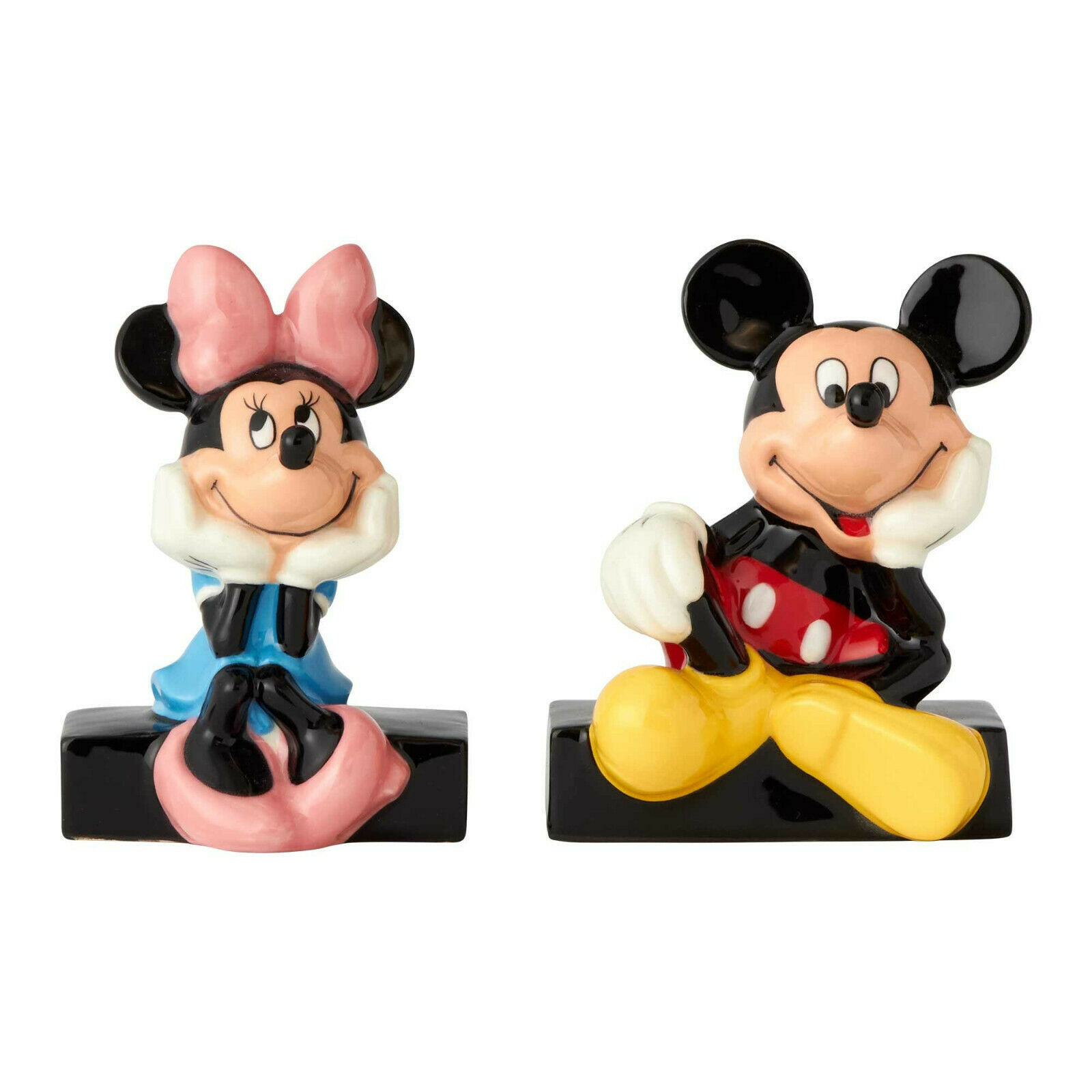 Disney Mickey & Minnie Mouse Salt & Pepper Shakers Set Collectible Gift Ceramic