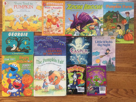 Halloween Book Lot of 12 Pumpkin Ghosts Little Witch Zoom Broom Casper - $13.49