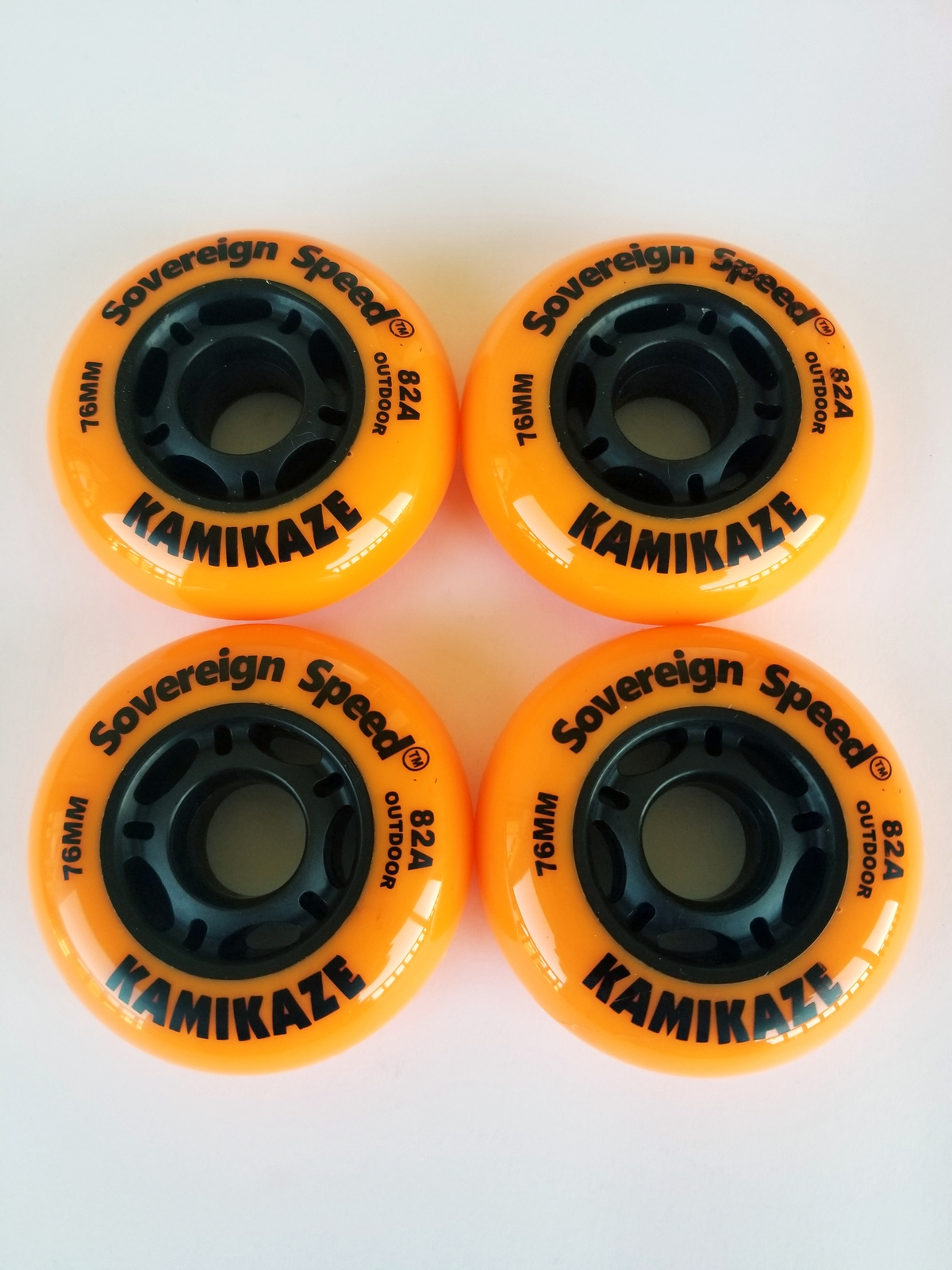 OUT 4x 76mm oft Outdoor Inline Skate Wheels / rollerblade roller hockey fitness - $30.00