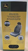 John Deere LP49603 Polyvinyl Black Sideless Seat Cover With Head Rest Cover image 6