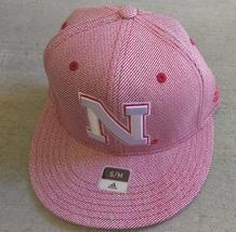 Adidas NCAA NEBRASKA Comhuskers Football Hat Cap Flat Brim Sz S/M - $20.00