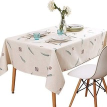 TUBEROSE Rectangle Dining Table Cloths 60 x 84 inch - Faux Linen Tablecl... - $29.52