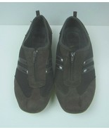 Athletech Brown Zipper closure Walking Flats Size 11 Women's Shoes - $11.91
