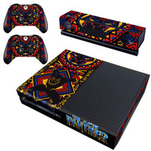 Regular Xbox One Console Vinyl Decals Stickers Skin Black Panther Marvel Wakanda - $12.38