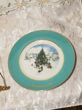 1978 AVON Christmas Plate Series Trimming the Tree Wedgewood image 4
