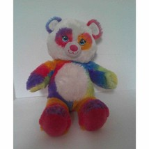 "2014 BAB Rainbow Pop of Color Panda 16 1/2"" Stuffed Animal Plush Toy - $18.43"