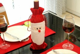 Wine Bottle Santa Christmas Cover Bag Decor Gift Xmas Party Table Dinner... - £6.77 GBP