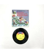 1970 Walt Disney's Disneyland Book And Record Mickey and the Beanstalk V... - $20.00