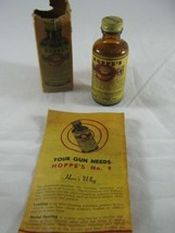 Vintage 1940 Bottle Hoppe's No. 9 Nitro Powder Solvent Box Gun Cleaning - $21.77