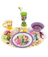 Disney Store Tinker Bell Fairies Plate Tumbler Water Bottle Spoon Fork M... - $34.60
