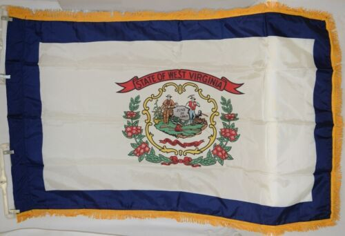 Valley Forge West Virginia Flag Pole Hem Fringe Three By Five Feet