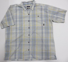 PATAGONIA Multi-Colored Plaid Button Up Short Sleeve Shirt Adult Men's S... - $29.65