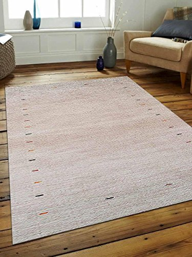 Primary image for Rugsotic Carpets Hand Knotted Loom Wool 6' 7'' x 9' 10'' Area Rug Contemporary B