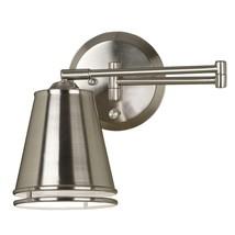Kenroy Home Wall Lamp 100-Watt Adjustable Shade Hardware Brushed Steel - $104.00