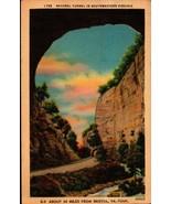 LINEN POSTCARD- NATURAL TUNNEL IN SOUTHWESTERN VIRGINIA  BK18 - $2.94